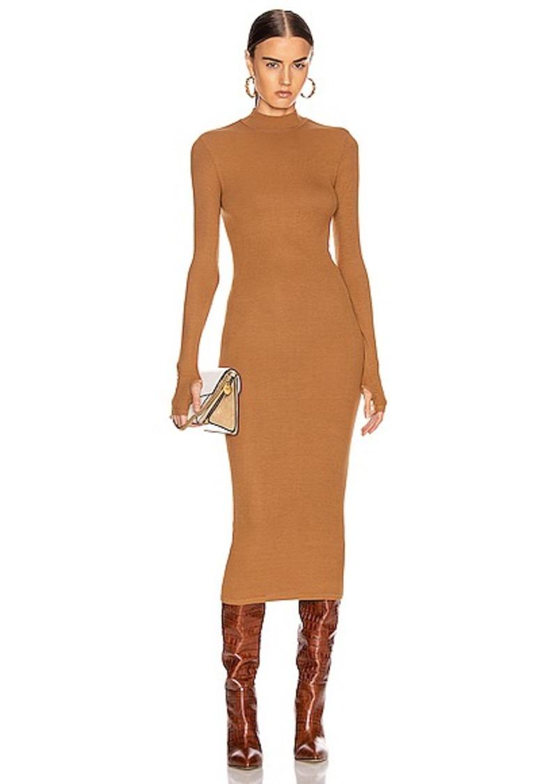 Enza Costa for FWRD Rib Mock Neck Midi Dress