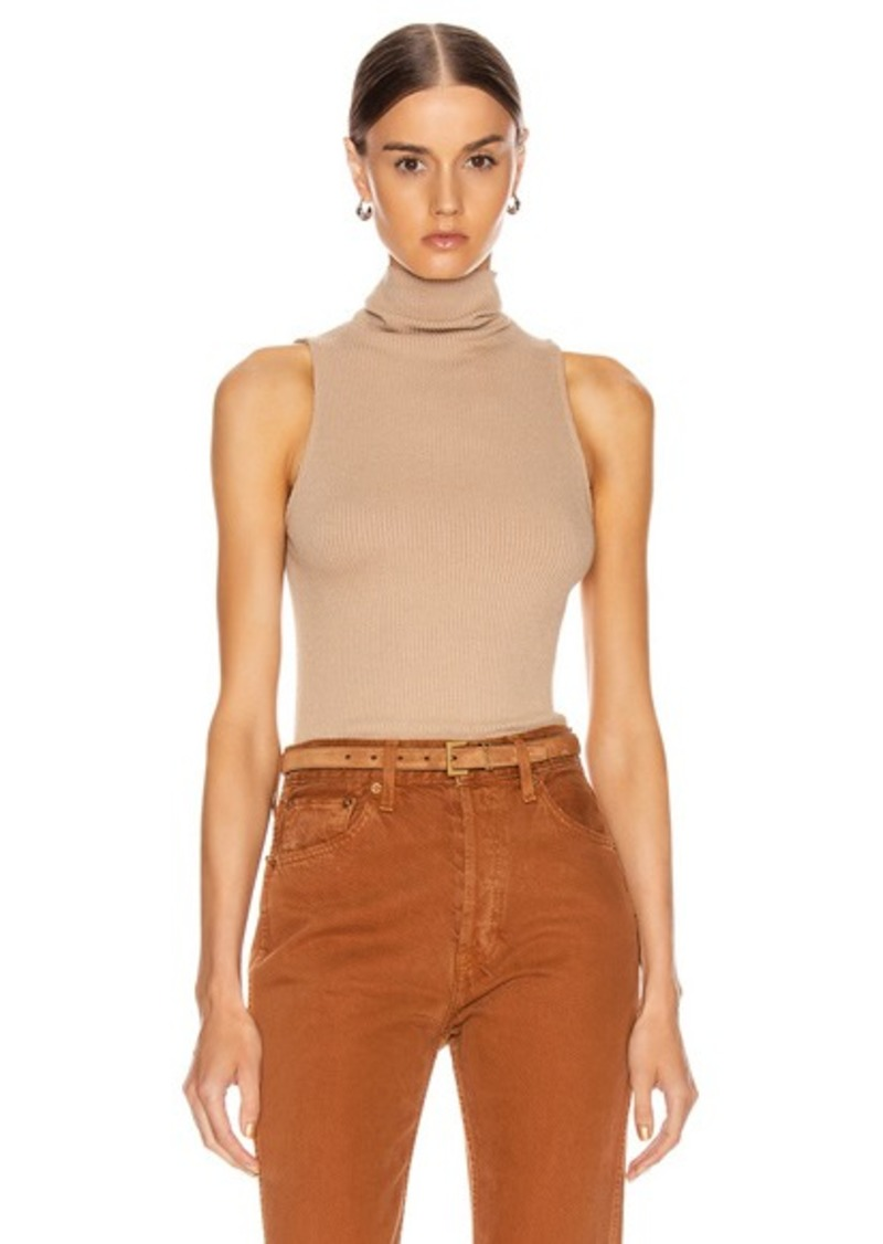 Enza Costa for FWRD Rib Sleeveless Turtleneck