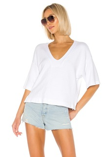 Enza Costa French Terry Easy V Neck Top