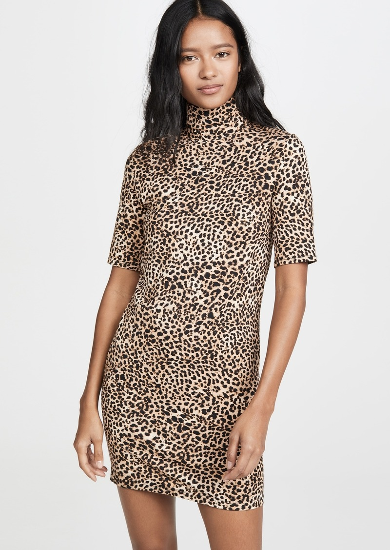Enza Costa Half Sleeve Turtleneck Mini Dress