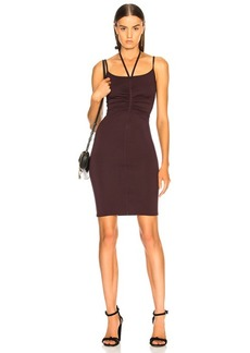 Enza Costa Halter Ruched Mini Dress