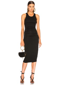 Enza Costa Jersey Side Ruched Midi Dress