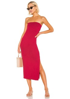 Enza Costa Jersey Side Slit Dress