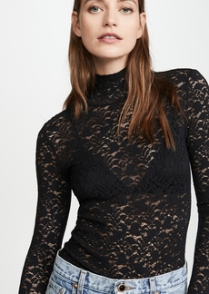 Enza Costa Lace Back Turtleneck