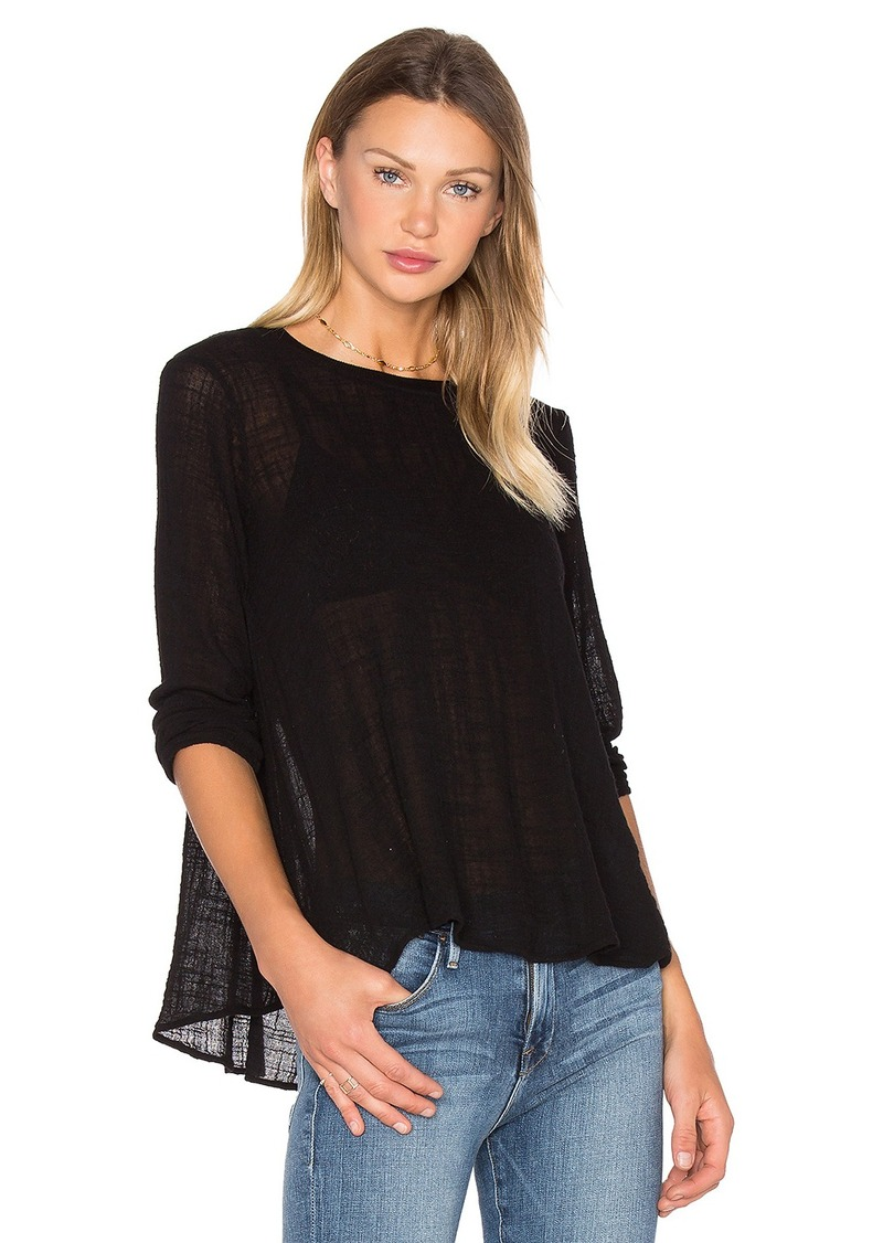 Enza Costa Long Sleeve Trapeze Top