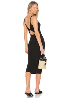 Enza Costa Matte Jersey Back Twist Midi Dress