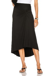 Enza Costa Matte Jersey Side Knot Skirt