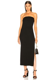 Enza Costa Matte Jersey Side Slit Dress
