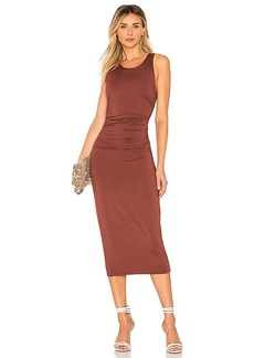 Enza Costa Matte Jersey Tank Midi Dress