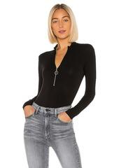 Enza Costa Mockneck Zip Bodysuit