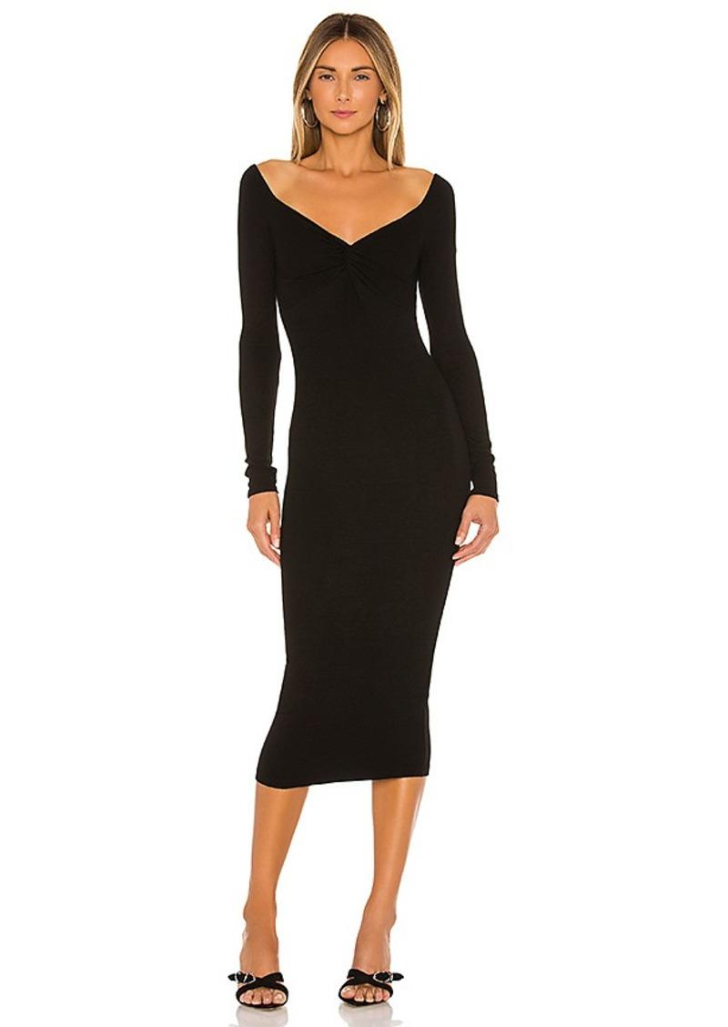 Enza Costa Off The Shoulder Twist Midi Dress