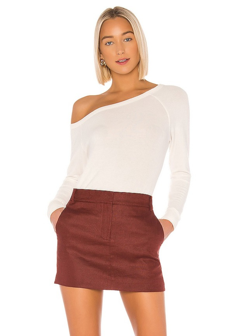 Enza Costa Peached Off The Shoulder Long Sleeve