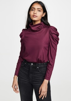 Enza Costa Puff Sleeve Turtleneck