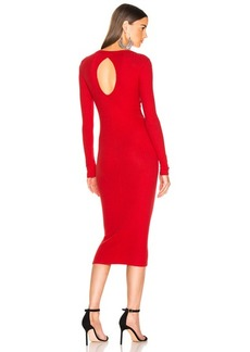 Enza Costa Rib Back Keyhole Midi Dress