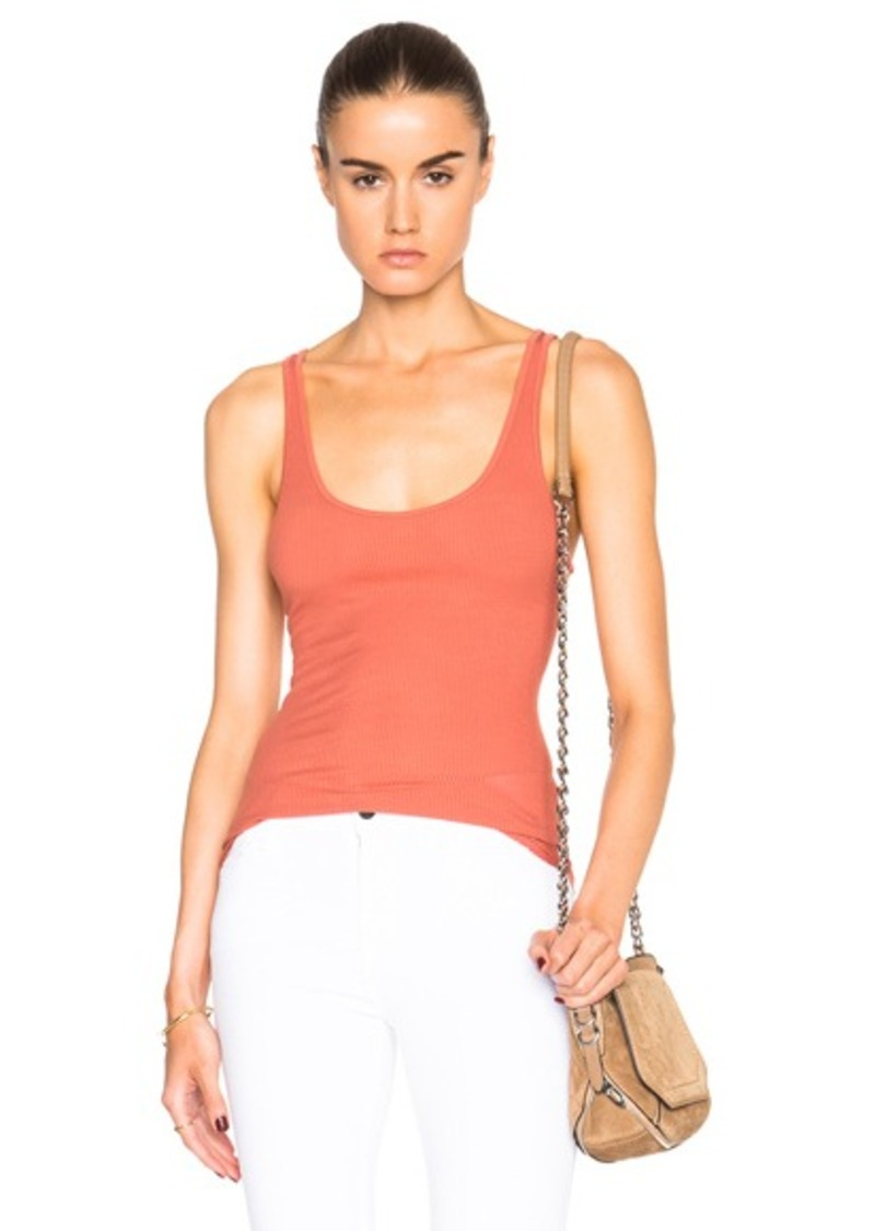 Enza Costa Rib Baseball Tank Top