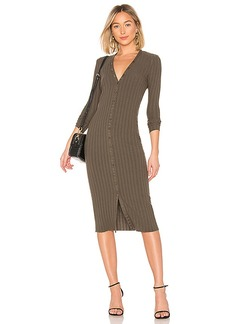 Enza Costa Rib Cardigan Midi Dress