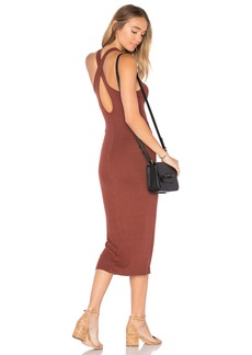 Enza Costa Rib Crossback Midi Dress