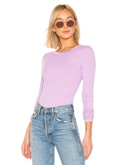 Enza Costa Rib Fitted Crew Neck Top