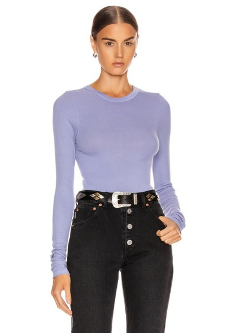 Enza Costa Rib Fitted Long Sleeve Crew Top