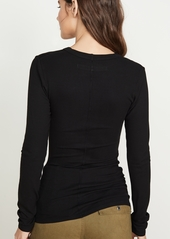Enza Costa Rib Fitted Top