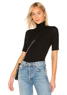 Enza Costa Rib Fitted Turtleneck Top