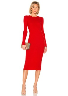 Enza Costa Rib Keyhole Midi Dress
