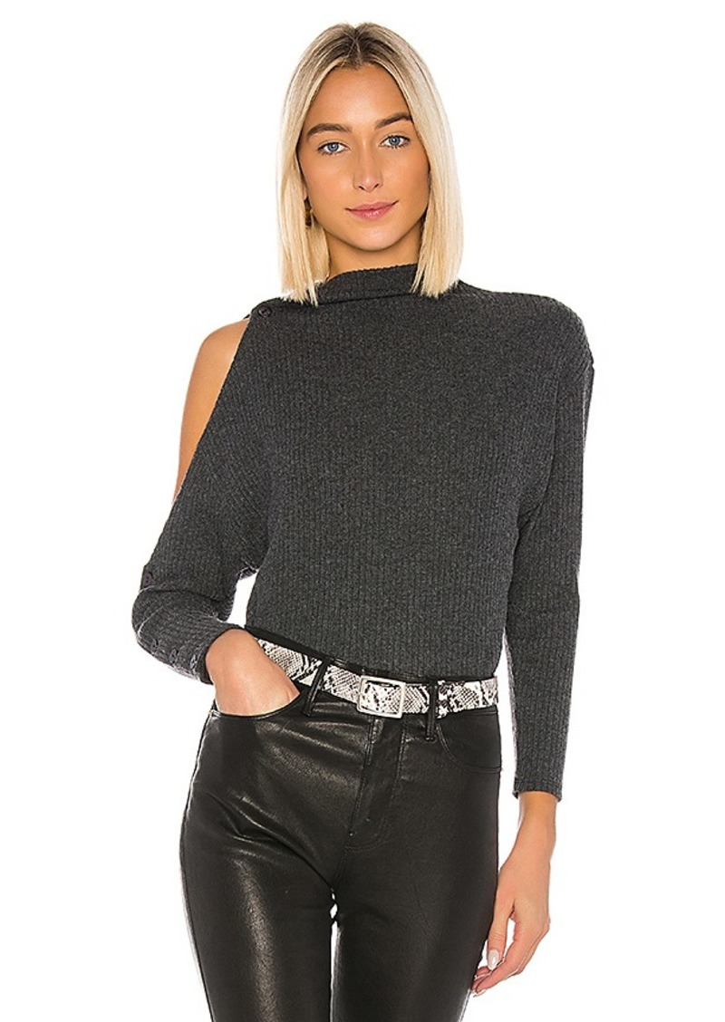 Enza Costa Rib Long Sleeve High Neck Sweater