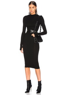 Enza Costa Rib Mock Neck Midi Dress