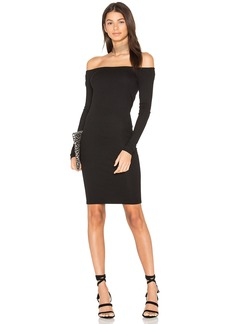 Enza Costa Rib Off Shoulder Mini Dress