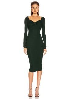Enza Costa Rib Off Shoulder Twist Midi Dress