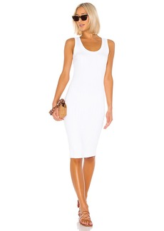 Enza Costa Rib Scoop Tank Midi Dress