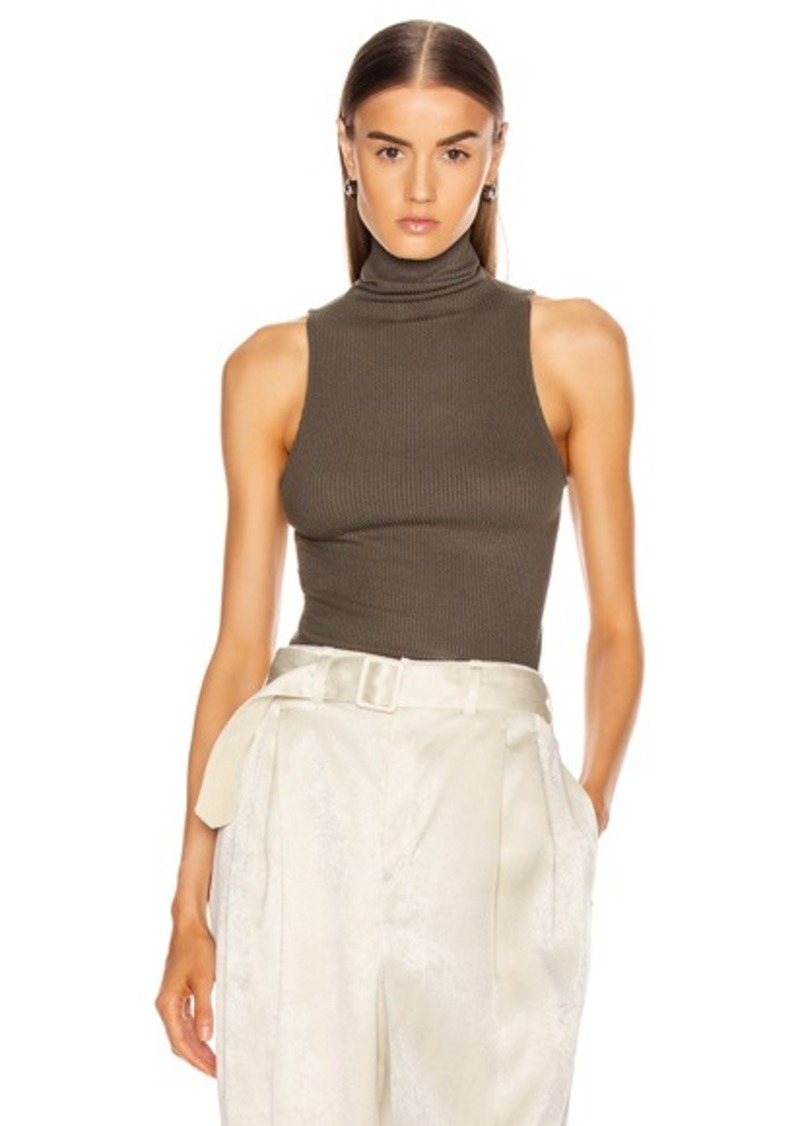 Enza Costa Rib Sleeveless Turtleneck
