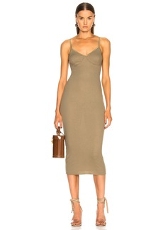 Enza Costa Rib Strappy Bra Midi Dress