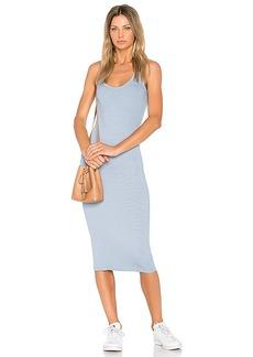 Enza Costa Rib Tank Dress in Blue. - size M (also in S,XS)