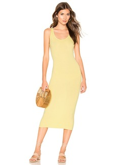 Enza Costa Rib Tank Midi Dress