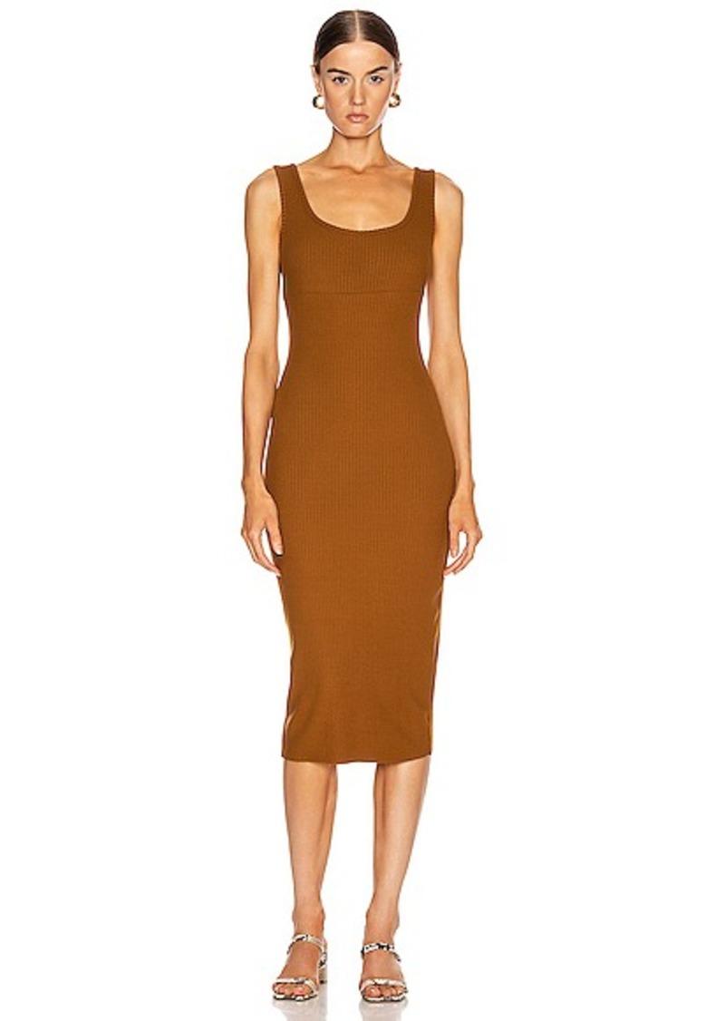 Enza Costa Rib Tank Midi Dress