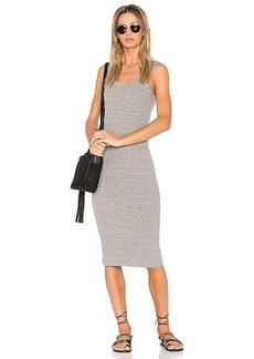 Enza Costa Rib Tank Midi Dress in Gray. - size S (also in M,XS)