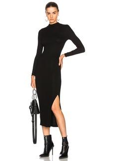 Enza Costa Rib Turtleneck Dress