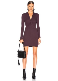 Enza Costa Rib Twisted V Mini Dress