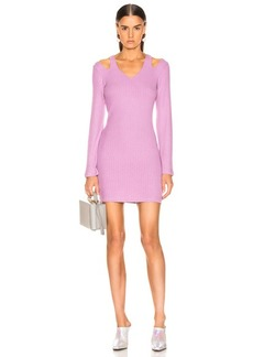Enza Costa Rib Wide Sleeve Mini Dress