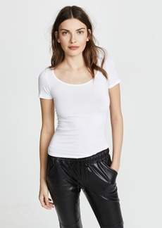 Enza Costa Short Sleeve Fitted Scoop Tee