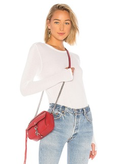 Enza Costa Silk Rib Crew Neck Top
