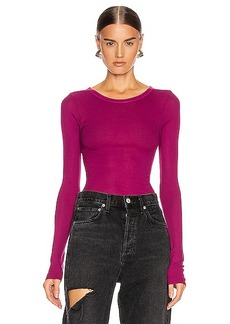 Enza Costa Silk Rib Top