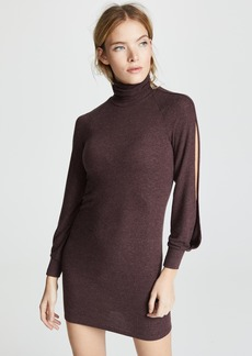 Enza Costa Split Sleeve Funnel Neck Mini Dress