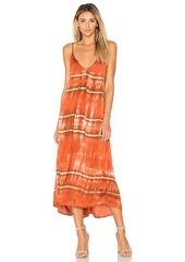 Enza Costa Strappy Slip Dress in Burnt Orange. - size 3 / L (also in 0 / XS,1 / S)