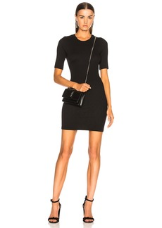 Enza Costa Stretch Rib Short Sleeve Dress