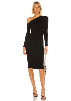 Enza Costa Sweater Knit Angled Midi Dress