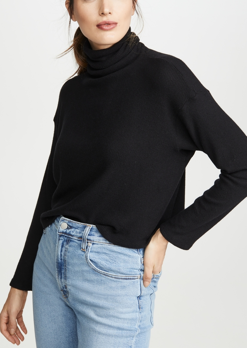 Enza Costa Sweater Knit Cropped L/S turtleneck
