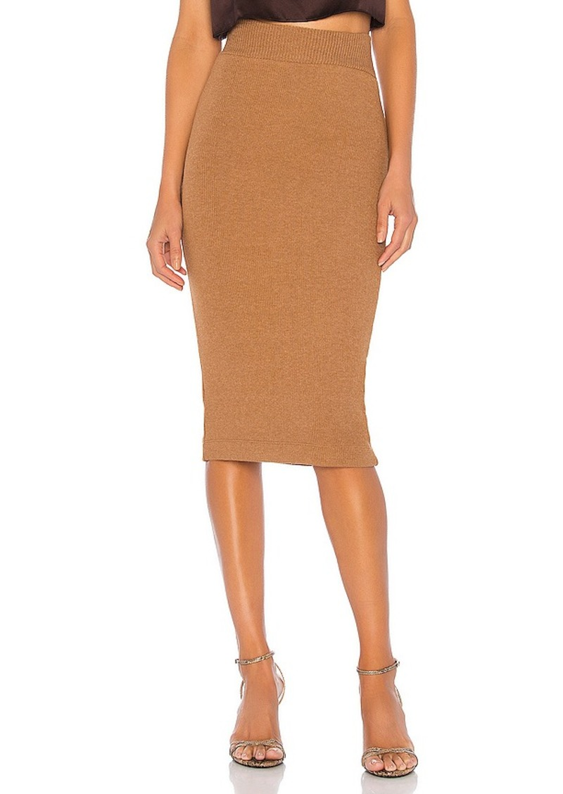 Enza Costa Sweater Knit Midi Skirt