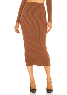 Enza Costa Sweater Rib Pencil Skirt
